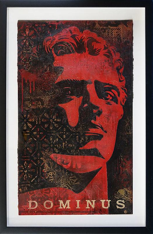Shepard Fairey - Dominus Retired Stencil