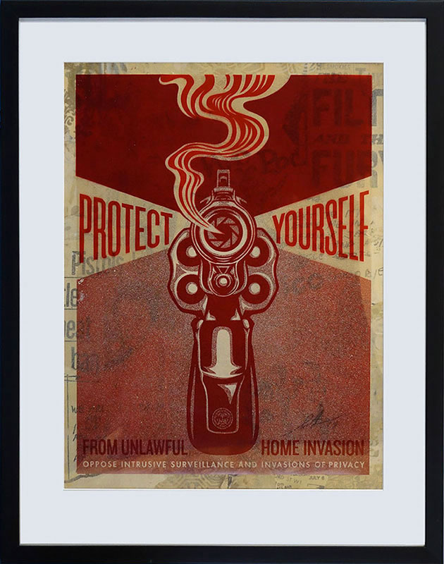 Shepard Fairey - Home invasion Rubylith