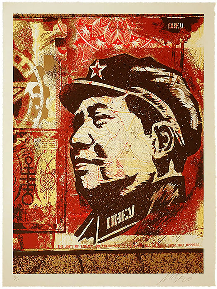 Shepard Fairey - Mao Gold Large Format Print