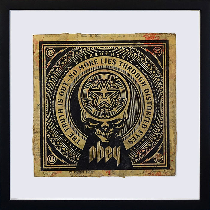Shepard Fairey No More Lies HPM LP Cover