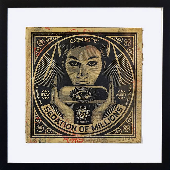 Shepard Fairey - Sedation of Millions HPM LP Cover