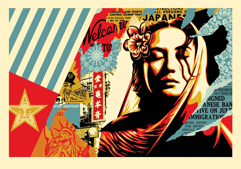 Shepard Fairey - Welcome Visitor Large Format Print